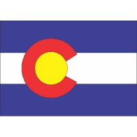 Colorado State Flag Light Iron On Stickers (Heat Transfers)