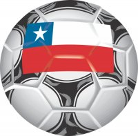 Chile Soccer Light Iron-on Stickers (Heat Transfers)