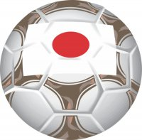 Japan Soccer Light Iron-on Stickers (Heat Transfers)