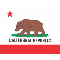 California State Flag Light Iron On Stickers (Heat Transfers)