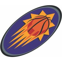 Phoenix Suns Alternate Logo  Light Iron-on Stickers (Heat Transfers) version 2