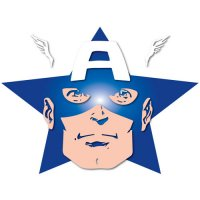 Captain America light-colored apparel iron on stickers 11