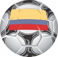 Colombia Soccer Light Iron-on Stickers (Heat Transfers)