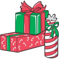 Christmas gifts light-colored apparel iron on stickers version 1