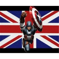Captain America light-colored apparel iron on stickers 16