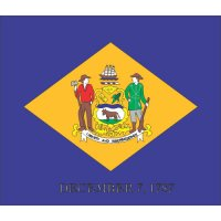 Delaware State Flag Light Iron On Stickers (Heat Transfers)