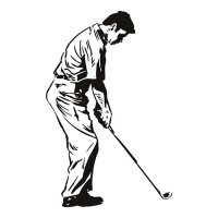 Golf Golfer Swing Put