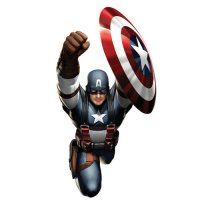 Captain America light-colored apparel iron on stickers 4
