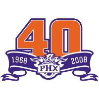 Phoenix Suns Anniversary Logo  Light Iron-on Stickers (Heat Transfers)