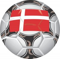 Denmark Soccer Light Iron-on Stickers (Heat Transfers)