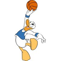 Donald Duck Light Iron On Stickers (Heat Transfers) version 5