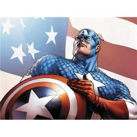 Captain America light-colored apparel iron on stickers 3
