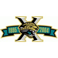 Jacksonville Jaguars Anniversary Logo  Light Iron-on Stickers (Heat Transfers)