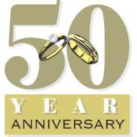 The 50th Anniversary Light Iron On Stickers (Heat Transfers)
