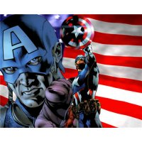 Captain America light-colored apparel iron on stickers 2