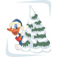 Donald Duck Light Iron On Stickers (Heat Transfers) version 1