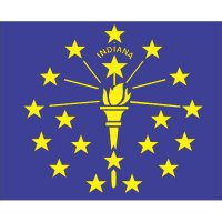 Indiana State Flag Light Iron On Stickers (Heat Transfers)