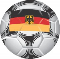 Germany Soccer Light Iron-on Stickers (Heat Transfers)