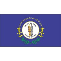 Kentucky State Flag Light Iron On Stickers (Heat Transfers)