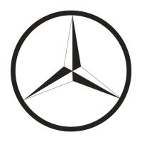 Benz Logo Light Iron On Stickers (Heat Transfers) 1