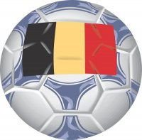 Belgium Soccer Light Iron-on Stickers (Heat Transfers)